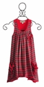 Isobella and Chloe Knit Girls Dress in Magenta