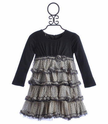 Isobella and Chloe Lace Ruffles Party Dress for Girls