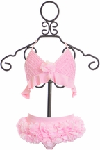 Isobella and Chloe Light Pink Ruffle Bikini