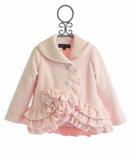 Isobella and Chloe Little Girls Coat in Pink (4,5,6X,7)