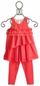 Isobella and Chloe Little Girls Coral Sleeveless Pant Set
