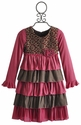 Isobella and Chloe Little Girls Dress Harmony Stripes