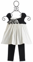 Isobella and Chloe Little Girls Laura Cap Sleeve Pant Set