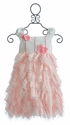 Isobella and Chloe Little Girls Pink Party Dress Heaven Sent