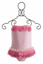 Isobella and Chloe One Piece Girls Swimsuit Frilly Fun (Size 2T)