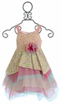 Isobella and Chloe Paris Dress for Little Girls in Pink Ruffles