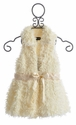 Isobella and Chloe Pearl Faux Fur Vest for Girls - Size 4