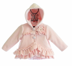 Isobella and Chloe Pink Winter Coat with Hood (18Mos,2T,3T,4T)