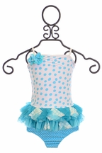 Isobella and Chloe Polka Dot Swimsuit for Girls Piper