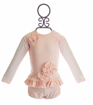Isobella and Chloe Pretty in Pearls Rash Guard Suit for Girls (3Mos,6Mos,9Mos,4)
