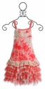 Isobella and Chloe Raspberry Girls Summer Dress