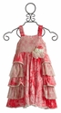 Isobella and Chloe Raspberry Tie Dye Dress