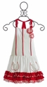 Isobella and Chloe Red and White Girls Dress