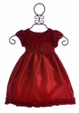 Isobella and Chloe Red Christmas Dress for Girls (Size 9 Mos)