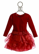 Isobella and Chloe Red Holiday Dress Ruby Kisses (2T,4T,6X)