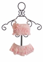 Isobella and Chloe Ruffle Bikini in Light Pink