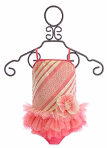 Isobella and Chloe Ruffle Swimsuit Popsicle Kisses (Size 4)