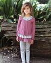 Isobella and Chloe Sammy Stripe Little Girls Tunic and Legging