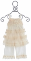 Isobella and Chloe Secret Garden Ivory Outfit for Little Girls