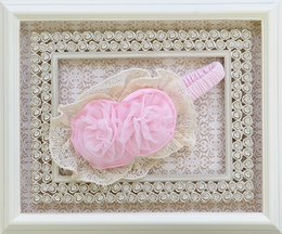 Isobella and Chloe Secret Garden Pink Headband