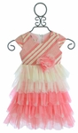 Isobella and Chloe Special Occasion Dress for Toddlers in Coral