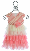 Isobella and Chloe Dress for Infants and Toddlers in Coral