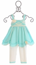 Isobella and Chloe Sugar Frosting Little Girls Outfit (Size 3Mos)