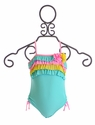 Isobella and Chloe Sugar Sweet One Piece Swimsuit in Tiffany Blue