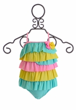 Isobella and Chloe Sugar Sweet Swimsuit Tank for Girls (12 Mos,5, 6X)