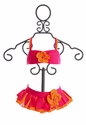 Isobella and Chloe Sunburst Bikini in Neon Fuchsia