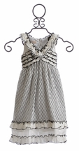 Isobella and Chloe Sunday Picnic Black and White Dress (Size 4)