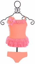 Isobella and Chloe Tankini for Girls Coral Crush