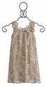 Isobella and Chloe Tea Time Girls Dress in Champagne