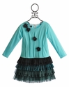 Isobella and Chloe Tiffany Girls Drop Waist Ruffle Dress