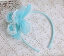 Isobella and Chloe Turquoise Layered Flower Headband