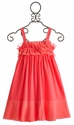 Isobella and Chloe Tween Sleeveless Empire Waist Dress in Coral