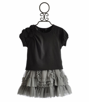 Isobella and Chloe Tween Top and Skirt Set Ruffles & Rosettes
