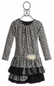 Isobella and Chloe Wild Snow Leopard Girls Dress