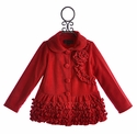 Isobella and Chloe Winter Coat for Girls in Red Claire