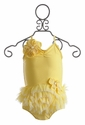 Isobella and Chloe Yellow Two Piece Swimsuit for Girls (6 Mos & 6X)