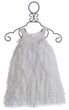 Isobella & Chloe Flower Girls Dress in White Ruffles