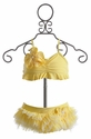 Isobella & Chloe Girls Tutu Swimsuit in Yellow