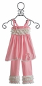 Isobella & Chloe Pink Girls Summer Oufit with Lace