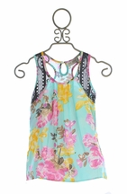 Jak and Peppar Aqua Jonah Tunic for Girls (6 & 16)