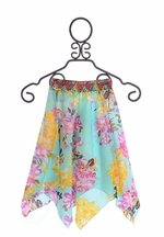 Jak and Peppar Aqua Josefine Skirt for Tweens (4,10,12)