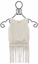 Jak and Peppar Arc Angel Top with Fringe in Ivory (6,10,14)