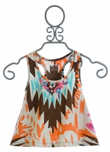 Jak and Peppar Aztec Inspired Gold Age Tank for Girls (12 & 16)