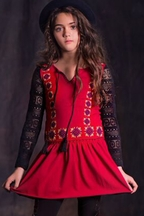 Jak and Peppar Days on Fire Tunic Red