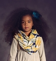 Jak and Peppar Dazed Navy Infinity Scarf for Girls