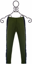Jak and Peppar Eve Leggings for Girls in Olive Green